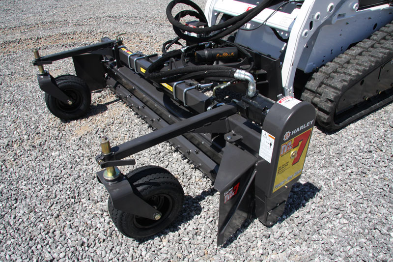 skid steer harley rake power box rake universal skid steer quick