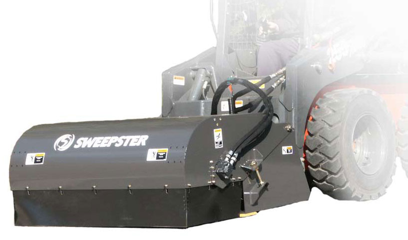 Skid Steer Sweeper with Hopper
