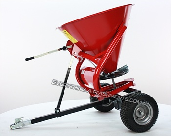 Atv Garden Tractor Seeder Spreader A Pull Type Unit With