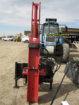 Shaver Hydraulic Post Driver For 3 Point Hitch On Tractors