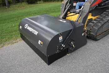 Sweepster Skid Steer Skidsteer Hopper Broom Pick Up